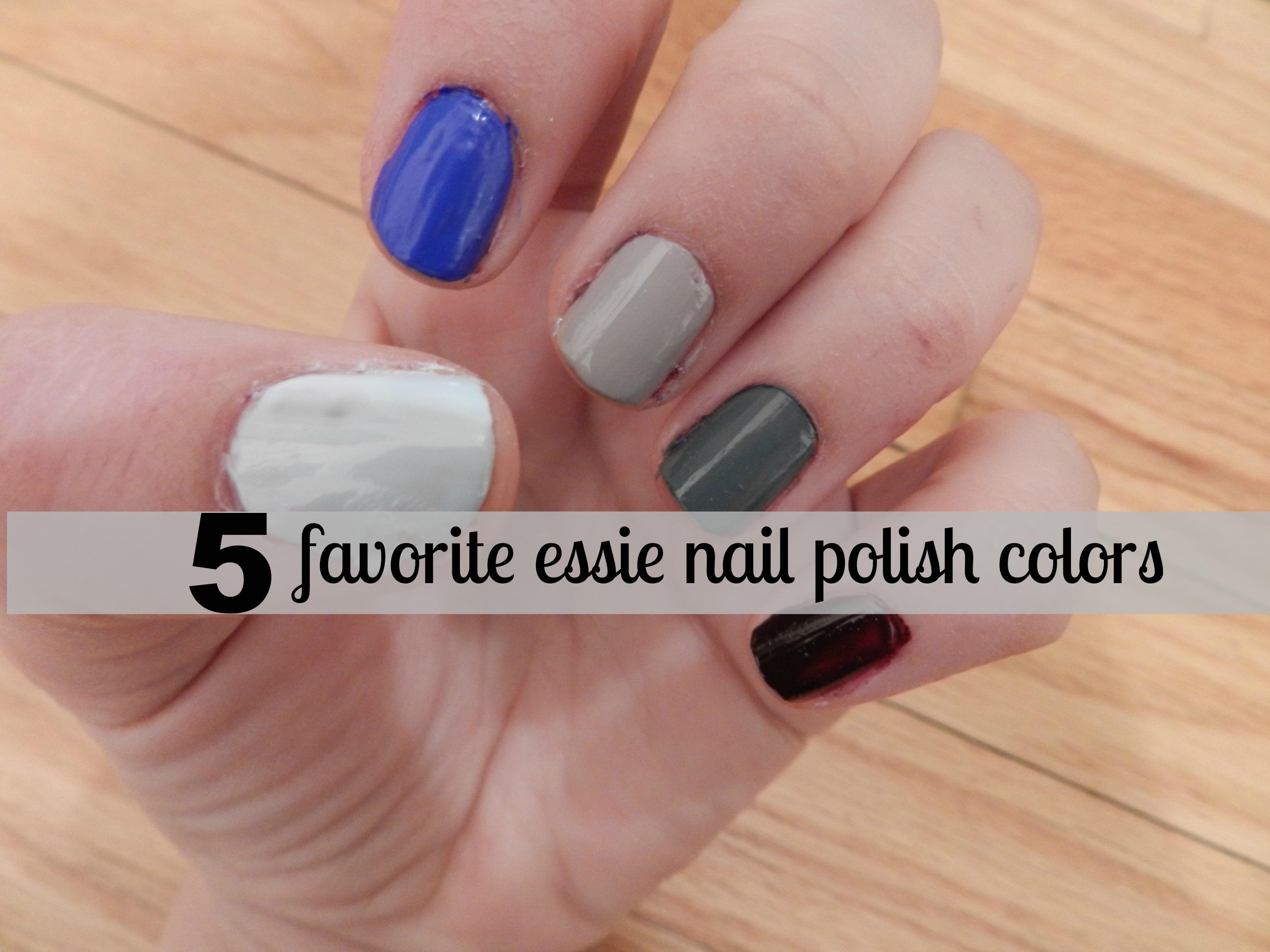 5 favorite essie colors - Kayla\'s Five Things
